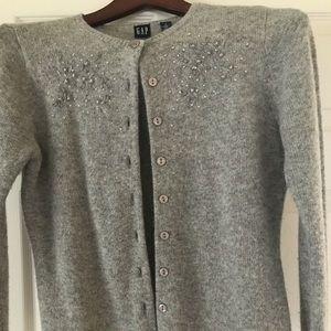 GAP Gray Cardigan Sweater